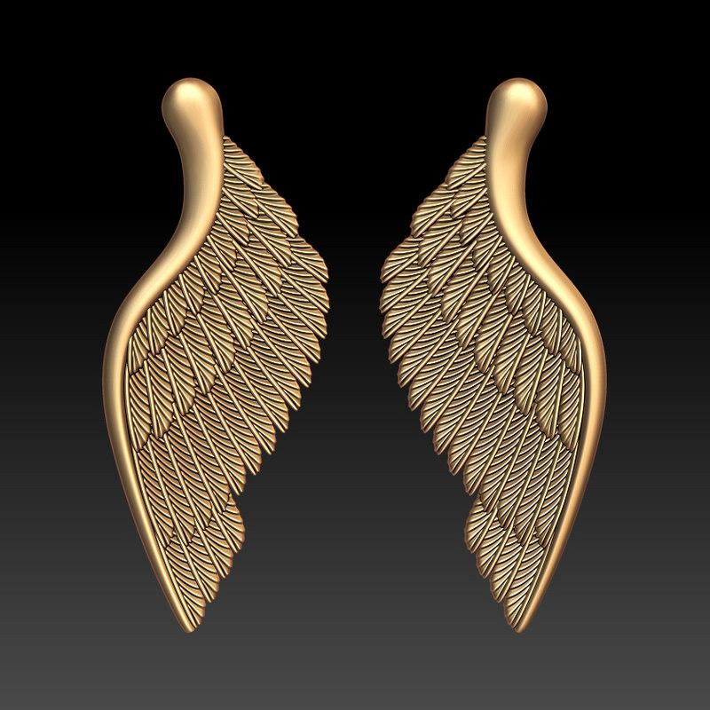 obj wings pendant jewelry