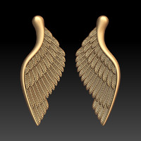obj wings pendant jewelry