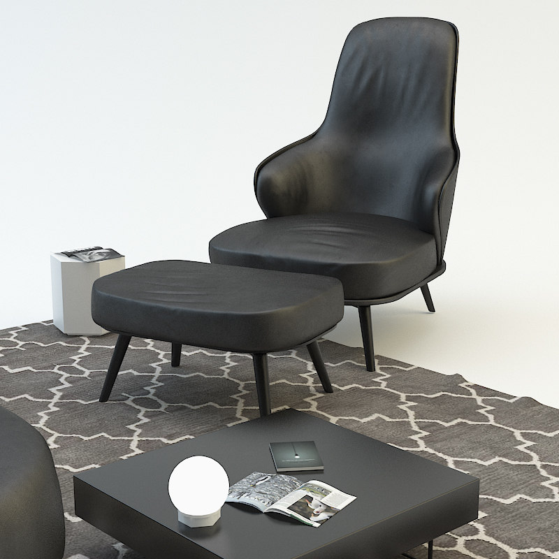 max chair ottoman leslie lounge
