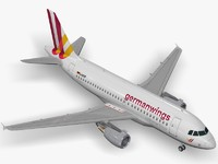3d max airbus germanwings a319