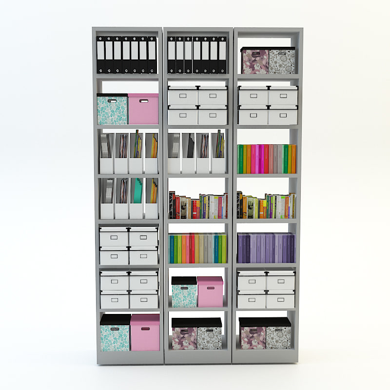 billy bookcase 3d max