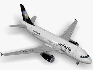 3D airbus a319 volaris