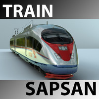 sapsan train 3d ma