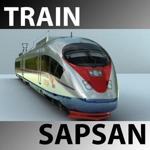 sapsan train 3d ma
