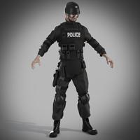 3d police swat