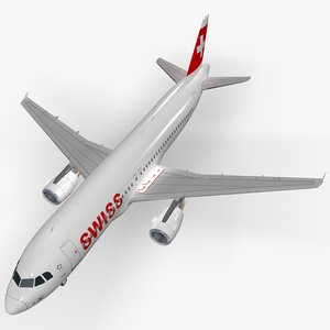 airbus a320-214 swiss international 3D
