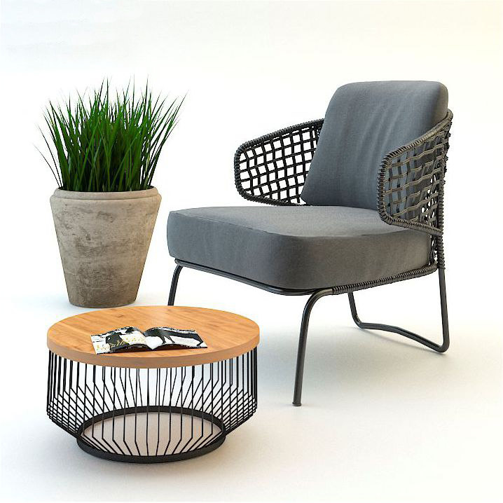 3d garden armchair set