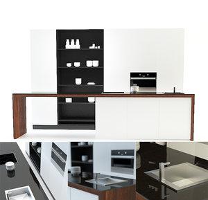 3d max modern kitchen