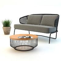 outdoor sofa set 3d max