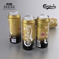 beer carlsberg gold 3d max