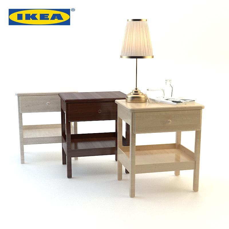 wood bedside ikea set max