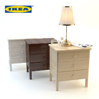 3d wood bedside ikea set