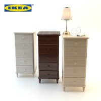 wood bedside ikea set 3d max