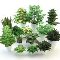 forest flowers plants set 3d max