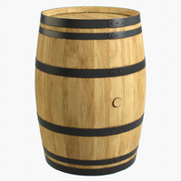 3d max wooden barrel