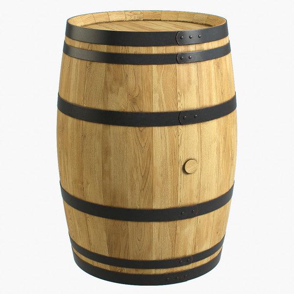 3d max wooden barrel
