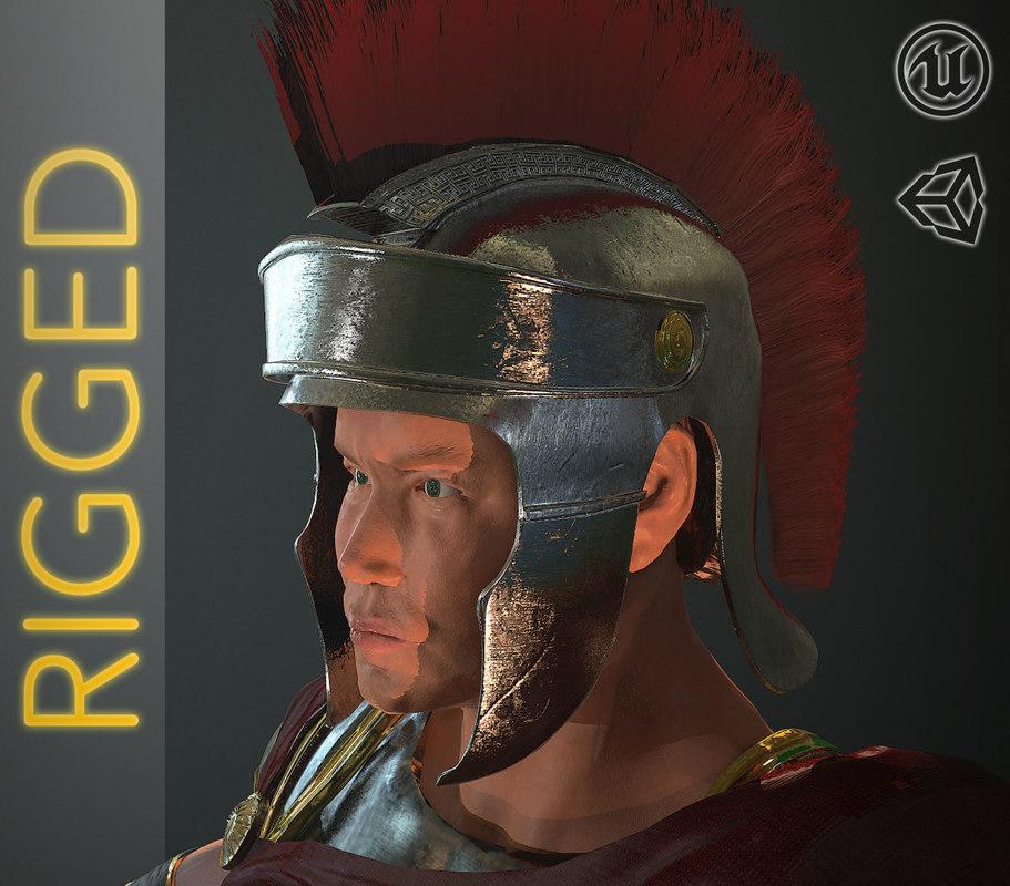3d character roman soldier model
