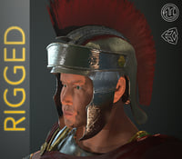 Roman Soldier PBR Rigged
