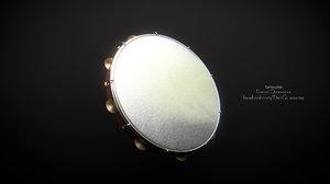 3d model of tambourine