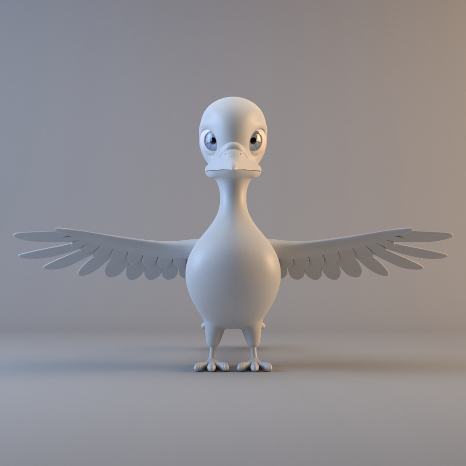 3d pigeon modelled ready model