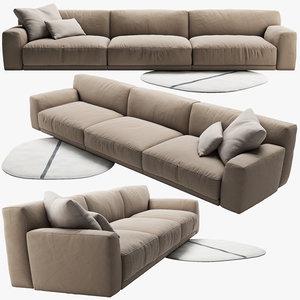 3d sofa poliform
