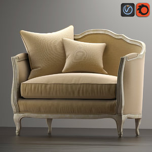 sofa mini ondine salon 3d max