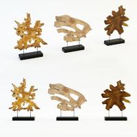 3d art wood decor set model