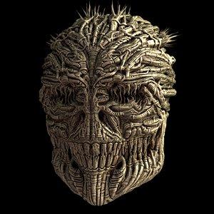 3d model giger skull