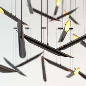 3d chandelier delightfull coltrane set model
