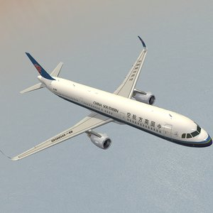 airbus a321neo china southern 3D model