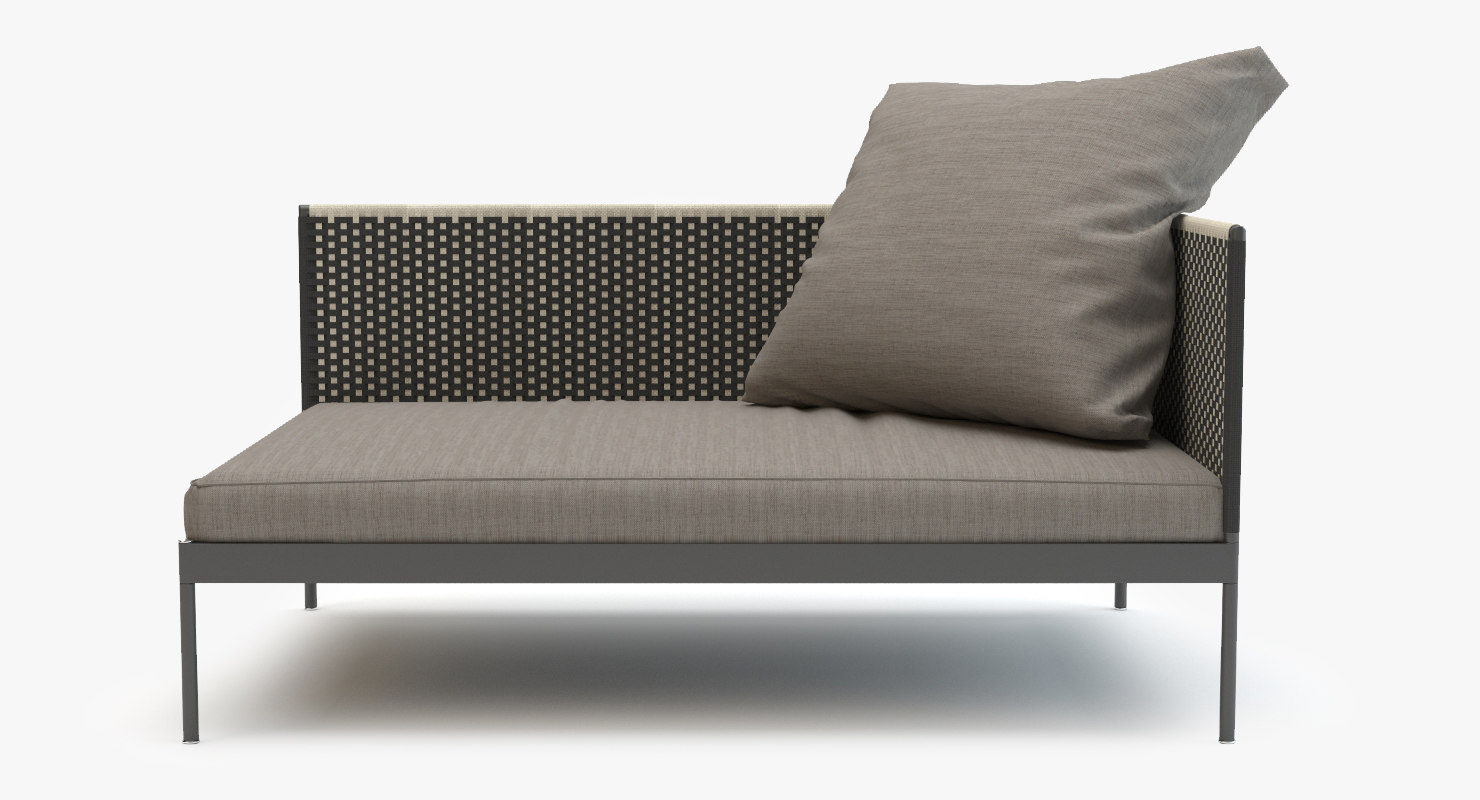 roda basket sofa module 3d model