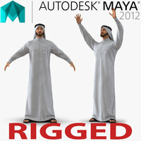 Arab Man Rigged for Maya