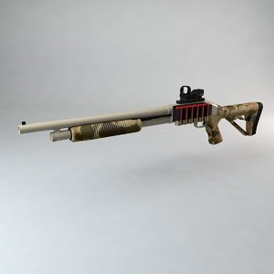 3d mossberg tactical shotgun pump
