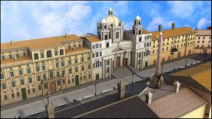 piazza navona rome obj