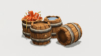 Low Poly Barrel Pack