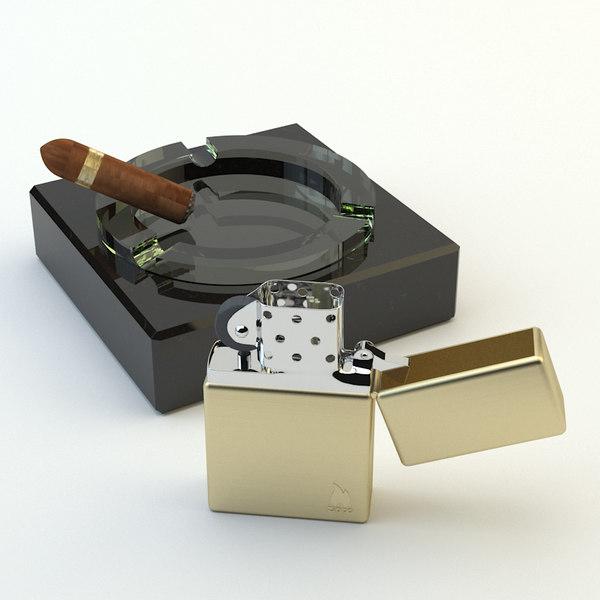 3d model zippo cigar