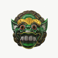 Majora Mask Green