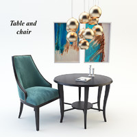 Table and chair(4)