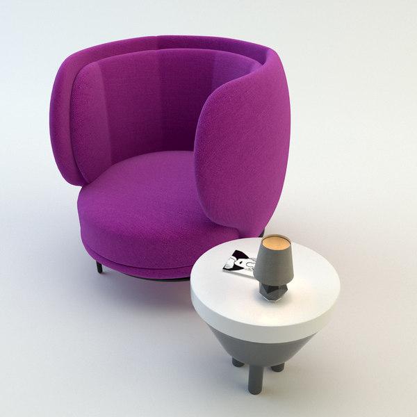 chair wittmann vuelta 3d model