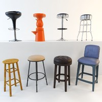 3d max bar stool set 8
