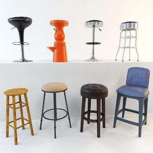 3d max bar stool set 8