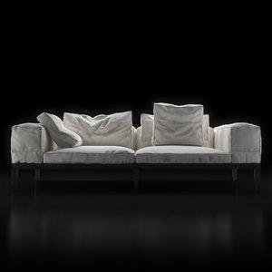 flexform lifewood sofa wood 3d max
