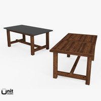 3d table reclaimed zinc restoration model