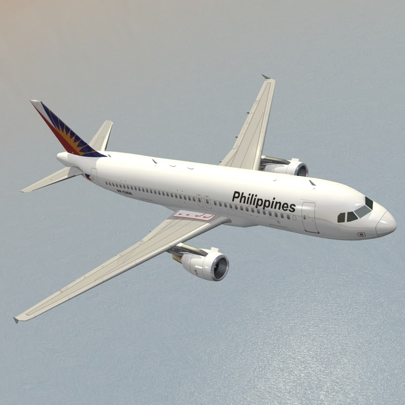 3D model airbus philippine airlines