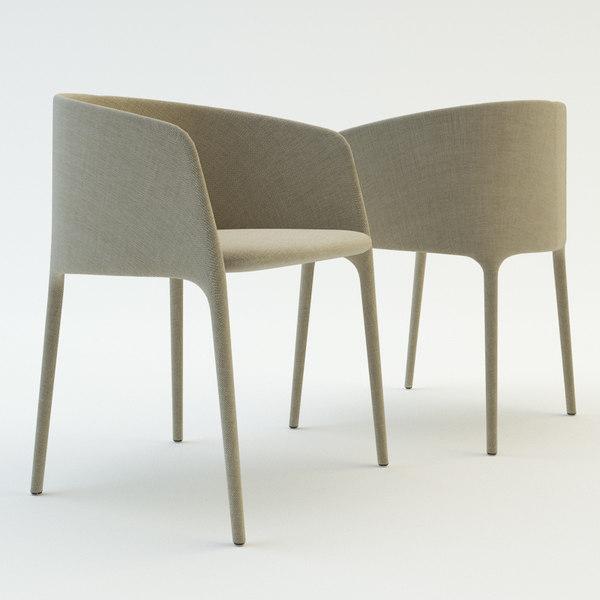 mdf italia achille armchair 3d model