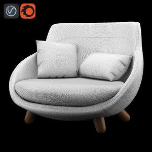3d love sofa model