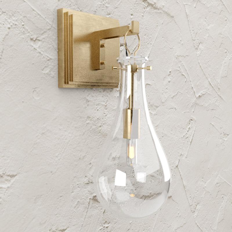 3d lamp sabine sconce model