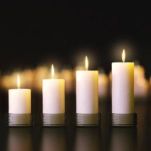 3d candles set model