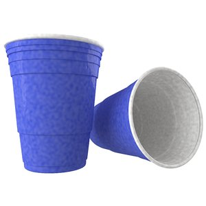 3d blue solo cup model