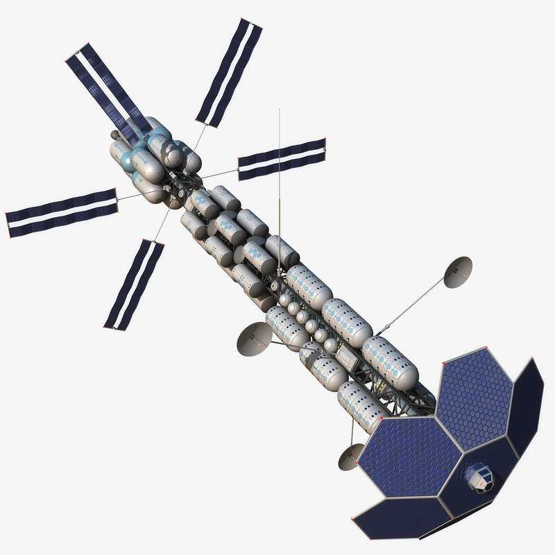 sci-fi space transport ship obj